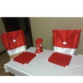 Návlek na stoličku červený